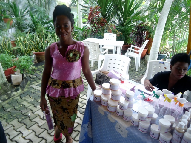 Lola of African Naturalistars, with her goodies.
