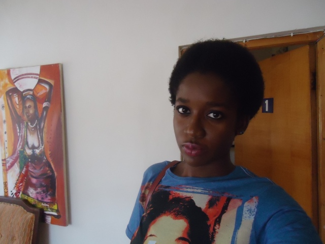 4C Natural Hair Afro- After 8 Months of Transitioning