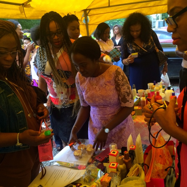 At the SkinPlus Calabar stand