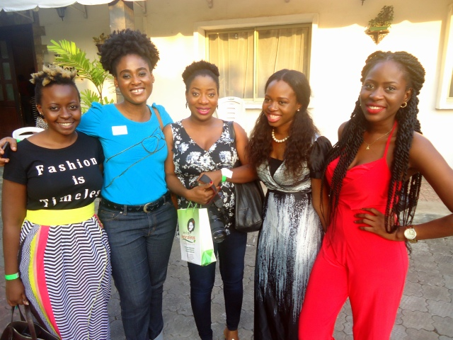 Deola Adebiyi of Omoge Mura, Barbara 1923, Sis Yemmie, Tuke and Sisi Yemmie's sister (loved her jumpsuit!)