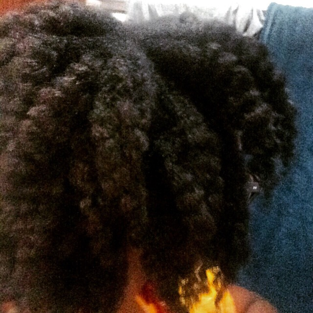 Not the best picture, but here's how it looked right after loosening the braids