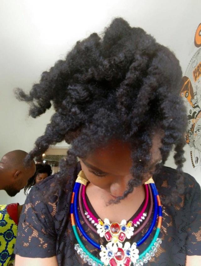 twist out- natural hair- 4c hair