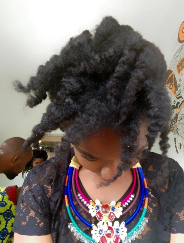 twist out- natural hair- 4c hair