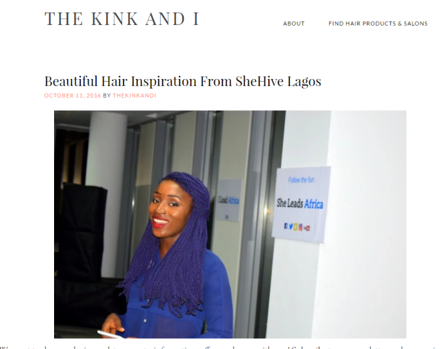 This post on beautiful hair inspiration from the recently concluded SheHive Lagos bootcamp