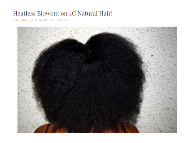 How to achieve a lush, blowout on your natural hair WITHOUT heat!